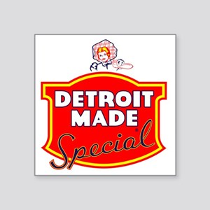 "detroitMADE Square Sticker 3"" x 3"""