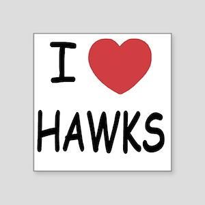 """HAWKS Square Sticker 3"""" x 3"""""""