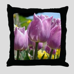 Tulip Garden 83M purple lavender Tuli Throw Pillow