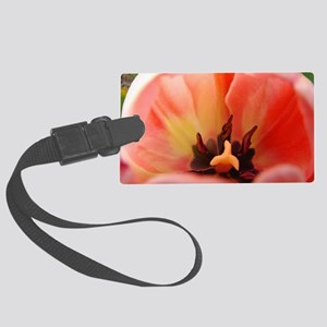 Tulip Garden 58M Pink Tulips Flo Large Luggage Tag