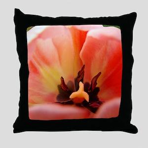 Tulip Garden 58M Pink Tulips Flowers  Throw Pillow