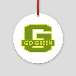 Go Green Round Ornament