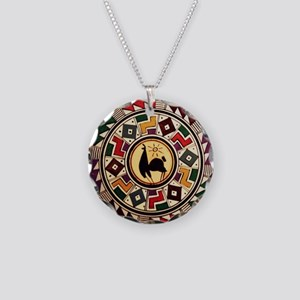 bolivia-llama-mousepad Necklace Circle Charm