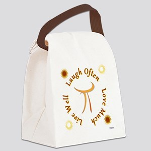 live well laugh often love much Canvas Lunch Bag