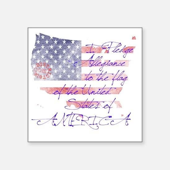 "pledge_allegiance Square Sticker 3"" x 3"""