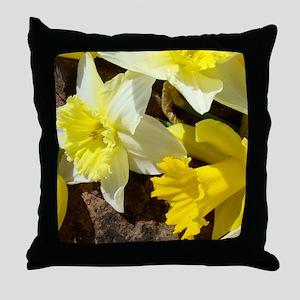 Spring Daffodils 14M Daffodil Flowers Throw Pillow