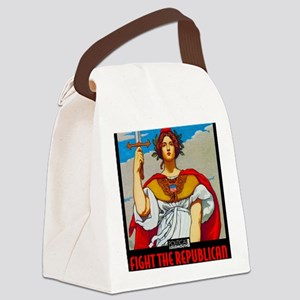 WAR WORKERS STEEL CAFE Canvas Lunch Bag