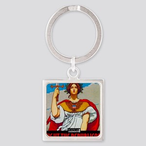 WAR WORKERS STEEL CAFE Square Keychain