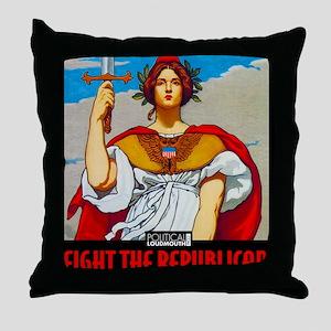 WAR WORKERS STEEL CAFE Throw Pillow