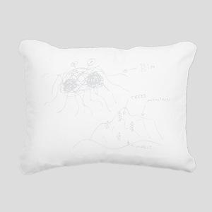 original-drawing-white Rectangular Canvas Pillow