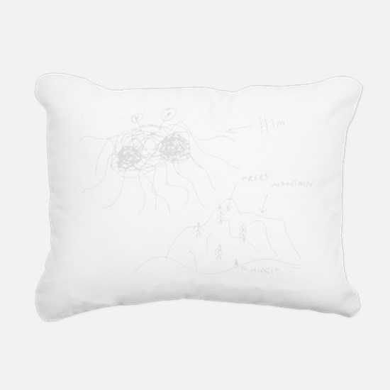 original-drawing-white Rectangular Canvas Pillow