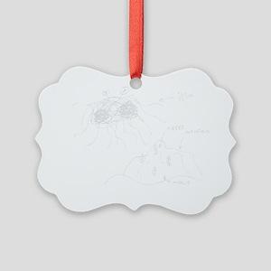 original-drawing-white Picture Ornament