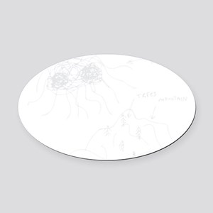 original-drawing-white Oval Car Magnet