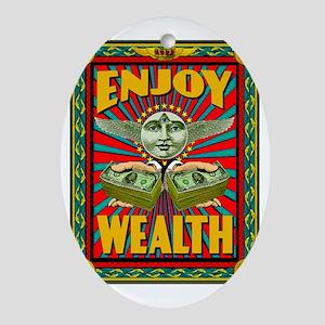 ENJOY_WEALTH_459_ipad_case Oval Ornament