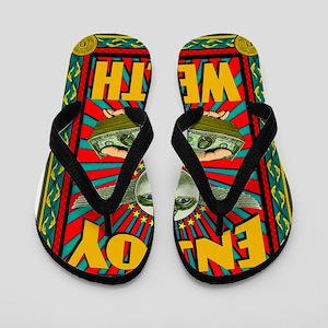 ENJOY_WEALTH_459_ipad_case Flip Flops
