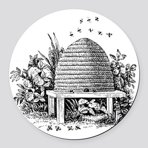 beehive Round Car Magnet