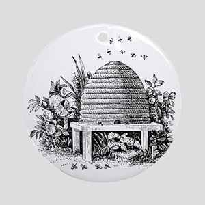 beehive Round Ornament