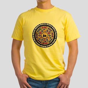 bolivia-llama-andes-round Yellow T-Shirt