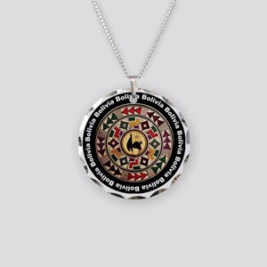 bolivia-llama-andes-round Necklace Circle Charm