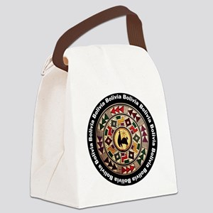 bolivia-llama-andes-round Canvas Lunch Bag
