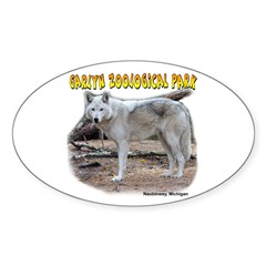 Gray Wolf Oval Decal