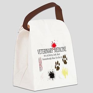 veterinariandirtyjobuse Canvas Lunch Bag