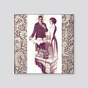 "Baker and Dressmaker square Square Sticker 3"" x 3"""