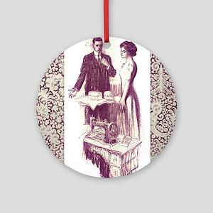 Baker and Dressmaker square Round Ornament