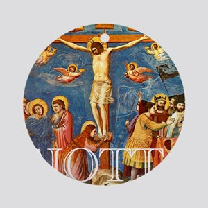 Giotto Crucifixion Round Ornament