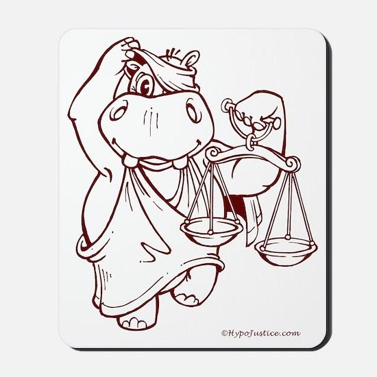 10x10_HippoBurgundy Mousepad