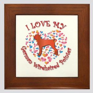 Love Pointer Framed Tile