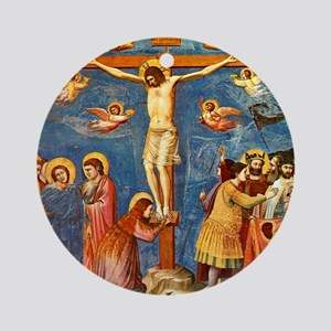 Giotto Crucifixion.No Text Round Ornament