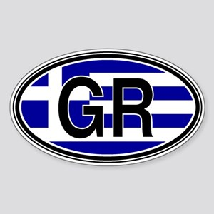 Greece Euro Oval Sticker