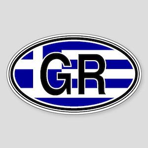 Greece Euro Oval Sticker