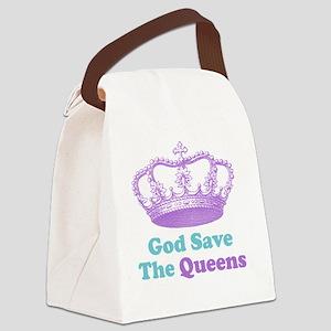 GSTQpurpturq Canvas Lunch Bag