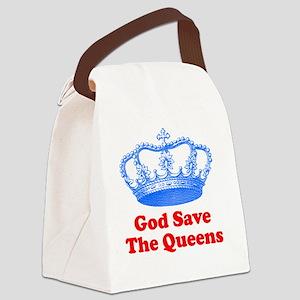 GSTQbluered Canvas Lunch Bag