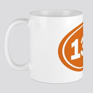 13.1 Oval burnt orange Mug