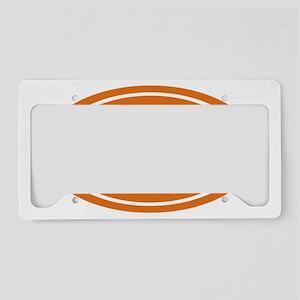 13.1 Oval burnt orange License Plate Holder