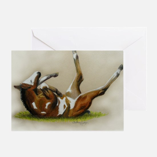 Rolling paint foal Greeting Card