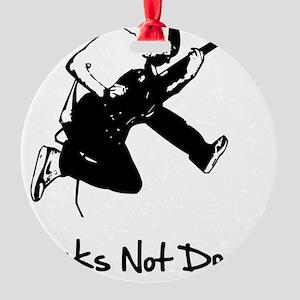 Punks Not Dead Black Round Ornament