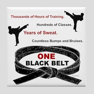 ONE Black Belt 1 Tile Coaster