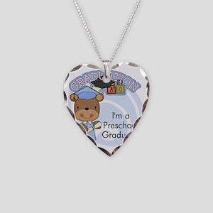 123bearpreschoolgrad3 Necklace Heart Charm