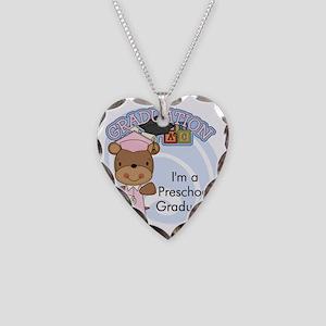 123bearpreschoolgrad2 Necklace Heart Charm