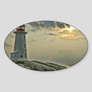 lighthouse_close_postcard Sticker (Oval)