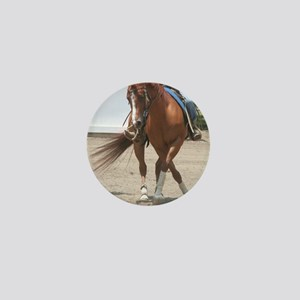 Reining Horse Mini Button