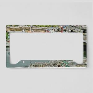 boats_galore_postcard License Plate Holder