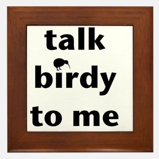 Talk birdy black Framed Tile