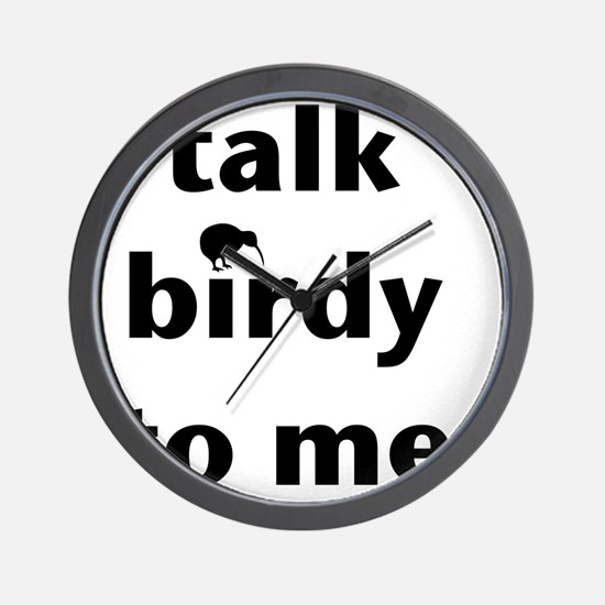 Talk birdy black Wall Clock