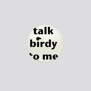 Talk birdy black Mini Button