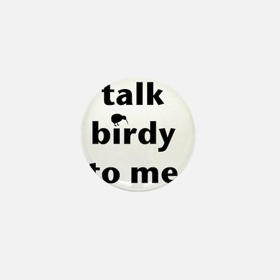Talk birdy black Mini Button